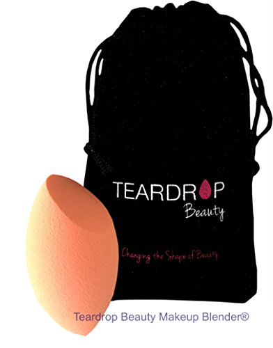 Original Teardrop Beauty Makeup Blender® FOUNDATION SPONGES WEDGE COSMETIC PUFFS (Orange Curve + Bag)