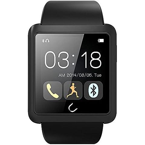 Nuovo aggiornamento versione U10L Bluetooth Smart orologio da polso Smartwatch per Android/iOS smartphone Samsung iPhone HTC Touch Screen con multilingue
