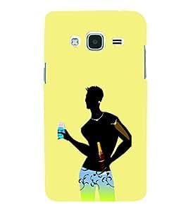 Fiobs Designer Back Case Cover for Samsung Galaxy J1 (6) 2016 :: Samsung Galaxy J1 2016 Duos :: Samsung Galaxy J1 2016 J120F :: Samsung Galaxy Express 3 J120A :: Samsung Galaxy J1 2016 J120H J120M J120M J120T (Yellow Black Boy Blue Underwear )