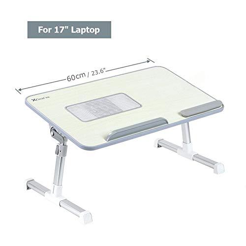 Xgear portátil inclinación Lapdesk bandeja para hasta 17 'Notebook PC | Soporte plegable ajustable de la cabecera de la computadora de la altura (verde)