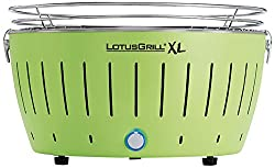 LotusGrill Holzkohlengrill Serie 435 XL, Farbe Limone, 43,5x43,5x28