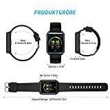 Mpow Smartwatch Wasserdicht IP68 Smart Watch Uhr mit Pulsmesser Fitness Watch Bluetooth Smartwatch Fitness Tracker Intelligente Armbanduhr mit Schrittzähler Schlaf-Monitor Call SMS für Android iOS - 7