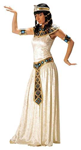 KULTFAKTOR GmbH Cleopatra Damenkostüm Deluxe Creme-blau-Gold L