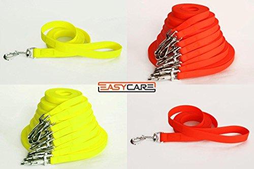 easycare-schleppleine-12-mm-3-20-meter-10-m-4-farben-neon-orange-mit-handschlaufe-wasserfest-pflegel