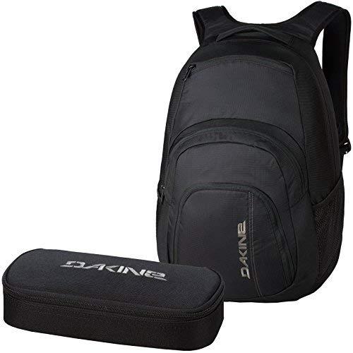 DAKINE 2er SET Laptop Rucksack CAMPUS LG + SCHOOL CASE Mäppchen Black
