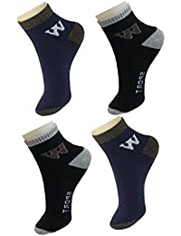 NeskaModa Men's Ankle Socks (Pack of 4) (S262-Men'sAnkleSocks_Blue,Black,Grey_Free Size)