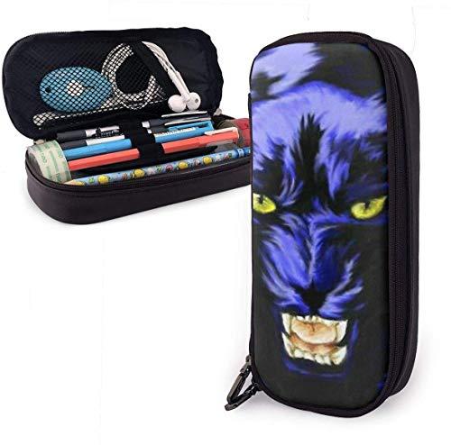 Spiral Dartscheibe Big Capacity Durable Leder Federmäppchen Make-up Tasche mit Reißverschluss für Schulbüro