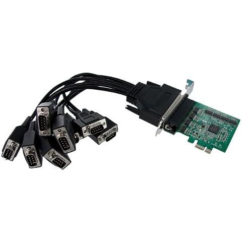 StarTech.com PEX8S952 - Tarjeta adaptadora PCIe de 8 puertos con cable multiconector serie RS232