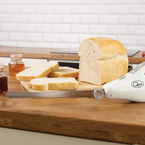 41L5%2B3ZKZOL. SS500  - Quest 35059 Electric Serrated Carving Knife-Can Cut Turkey, Meat, Bread, Vegetables, Fruits, Ham, and Cooked Beef, 120W, White