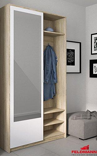 Garderobe Kompaktgarderobe mit Spiegel 1689133 sonoma eiche  alpinweiß