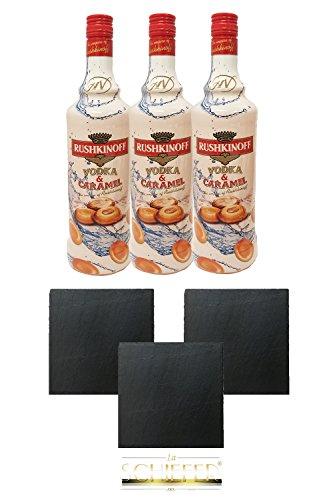 Rushkinoff Vodka & Caramelo, 3er Pack (3 x 1,0 l)