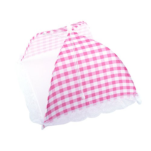 Pinkdose® Pinkdose Pink: Collapsible 32X31Cm Pop-Up Mesh Food Covers Umbrella Tent for Outdoors Screen Tents Protectors for Bugs Parties Picnics BBQ
