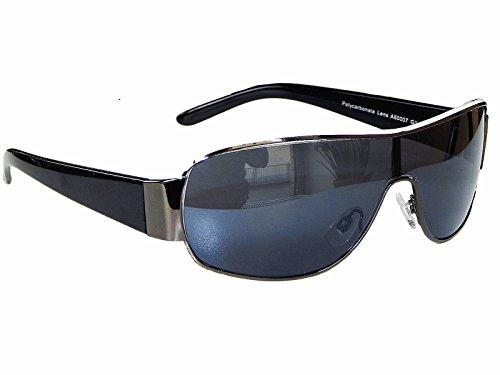 Coole Sonnenbrille Aviator Brille Monoglas Sportlicher Style Damen Herren M 5 (Schwarz Weiß )