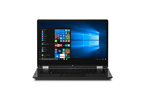 MEDION E3215 33,8 cm (13,3 Zoll) Full HD Convertible Laptop (Intel Pentium N4200, 4GB RAM, 128GB SSD, Intel HD-Grafik, Win 10 Home) schwarz