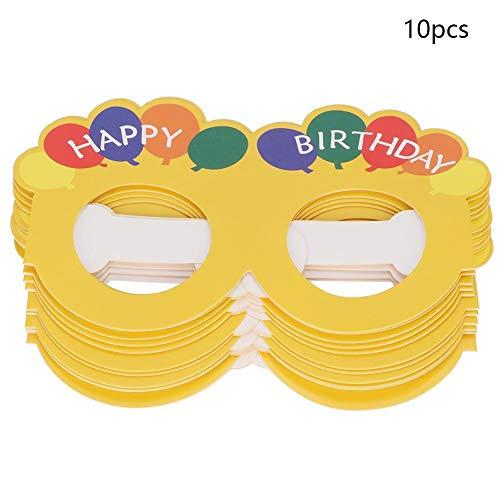 AUNMAS Stilvolle Brillen Rahmen Nette Neuheit Alles Gute zum Geburtstag Papier Dekorative Brillen Rahmen für Photo-Booth Prop Party Supplies(2#)