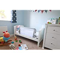 Venture QFix Bed Guard Portable and Foldable Bed Rail 99cm x 42cm, White,Grey