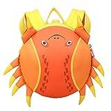 Rucksack,Niedlich Rucksack Meerestiere Kleinkindrucksack Mädchen Kindertasche Jungen Kinderrucksack Baby Kindergartentasche Jugendliche Schulrucksack (Orange)-Orange