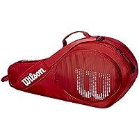 Wilson Schlägertasche für Kinder und Jugendliche, Bis zu 3 Jugendschläger, rot/weiß, WRZ647903