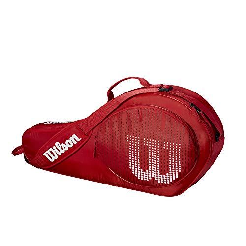WILSON Sporting Goods Tennistasche, 3 Stück, rot/weiß