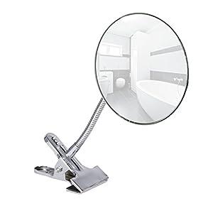 Wenko Kosmetikspiegel Clip – 5-fach Vergrößerung, 500 % Vergrößerung, Stahl, 15 x 27 cm, chrom