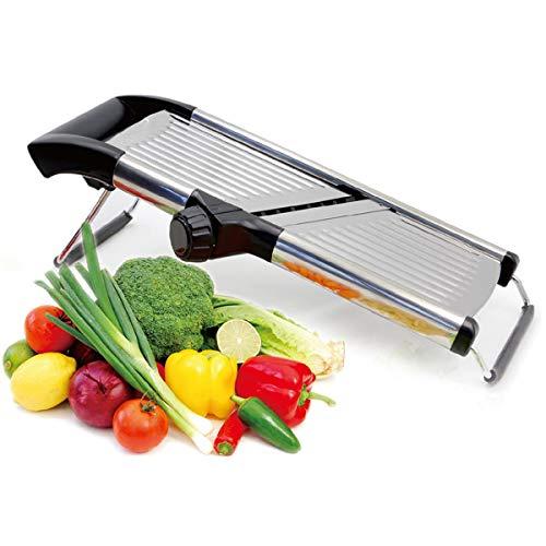 verstellbar Mandoline Schneide. Best für Aufschneiden von Lebensmitteln, Obst und Gemüse Professional Grade. Julienne Schneide. Mit Reinigungsbürste. Edelstahl