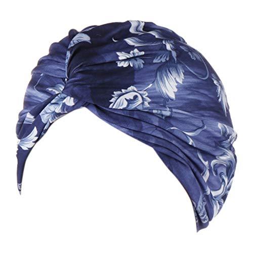 Yebutt Femmes Chapeau Musulman Volant Chimio Hat Chapeaux créatifs écharpe Casquette Turban tête Wrap Turban Imprimer Longue Queue Chapeau TêTe ÉCharpe Wrap Chapeaux pour 6 Couleurs à Choisir