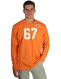 Ralph Lauren RL67 Hommes T-shirt à manches longues d'orange 10042100