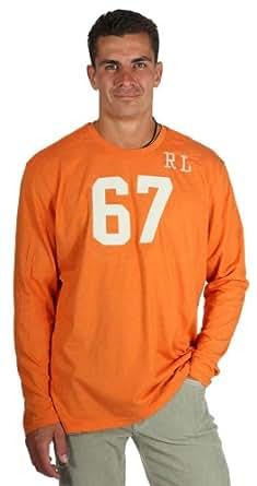 Ralph Lauren RL67 Hommes T-shirt à manches longues d'orange 10042100, taille:XL