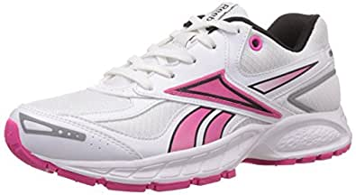 Reebok Women's Vision Track Lp White,Black and Dynamic Pink Running Shoes - 9.5 UK
