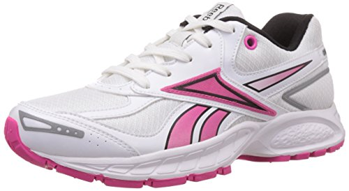 Reebok Women's Vision Track Lp White,Black and Dynamic Pink Running Shoes - 7 Uk  available at amazon for Rs.2899