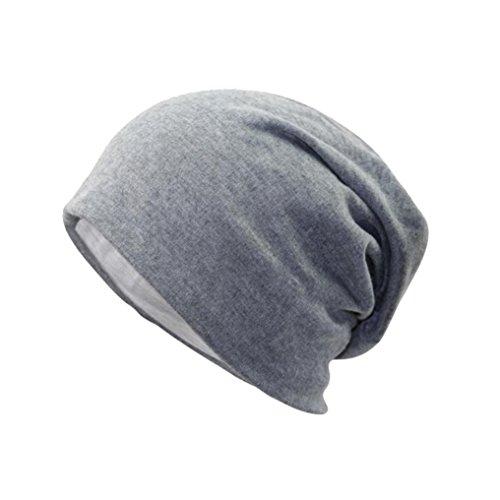 Longra Unisex Neue Frauen Männer Winter warme Mütze häkeln Warm Strick Strick Mütze Hüte (Gray)