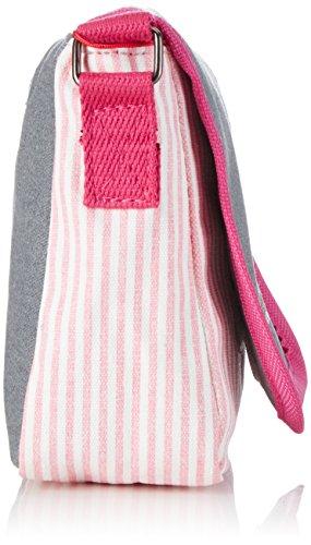 Adelheid Glückspilz m. Spruch Kindergartentasche 13150135528 Mädchen Mädchenhandtasche 20x16x7 cm (B x H x T) Grau (silbergrau 934)