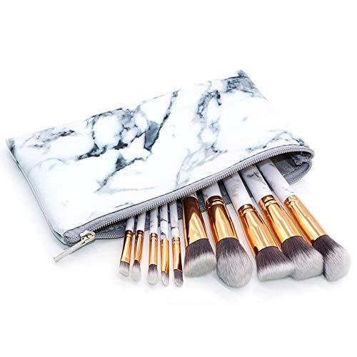 Pinzhi10 Stück Premium Make-Up Pinselset Powder Foundation Lidschatten Eyeliner Lippenpinselset mit...
