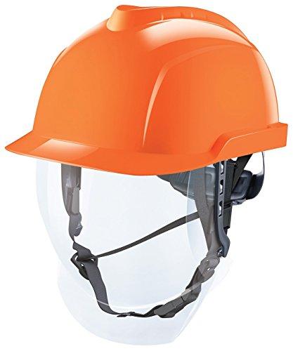 MSA V-Gard 950, casco con visiera, diversi colori, Arancione