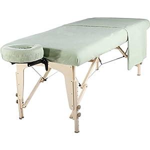 Master Massage liege Flanell Blatt Set 3 in 1 Liegedecke, flache Platte, Gesichts-Kissenbezug Lily Grün