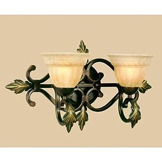 AF Lighting 4532-2WB Elements Series Provencal 2-Light Vanity, Cashmere/Golden Glow by AF Lighting