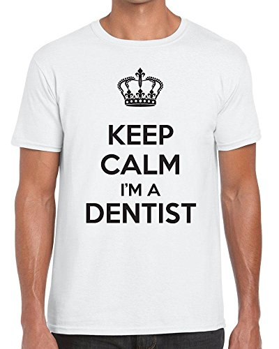 Funky NE Ltd Keep Calm I'm A Dentist - Carry On - Tshirt - 100% Cotton - Small to XXL - 15 Colours - Great Gift Idea by