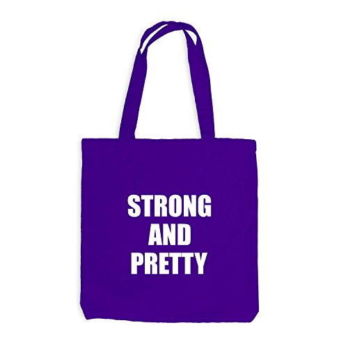 and Strong Violett Pretty Sport Fitness Train Jutebeutel 68q55