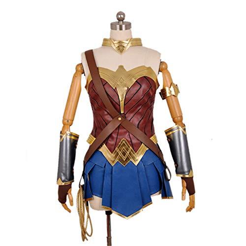 ZQ Sexy Held Kostüm Kostüm Wonder Woman Cosplay Dame Kostüm mit Kopfschmuck und Handschutz,M