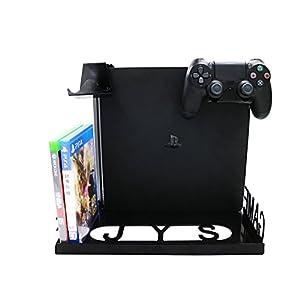 YockTec Xbox One X Wandhalterung Smart Controller Ständer Standfuß Stand Premium Organizer mit kompaktem Design für Xbox One X / PS4 / PS4 Slim / PS4 Pro / PlayStation 4