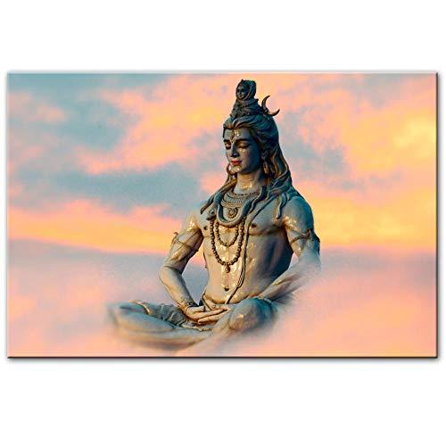 zszy Lord Shiva Wandkunst Leinwandbilder Hindu Gods Home Dekorative Leinwand Kunstdrucke Hinduismus Kunst Bilder für Wohnzimmer -60x80cmx1 Stück kein Rahmen