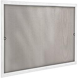 JAROLIFT Mosquitera con marco de aluminio - SlimLine para ventanas 110 x 150cm, color blanco - Montaje sin perforación