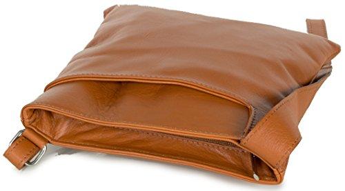 Borsa A Spalla Da Donna Piccola Borsa Loft 22x24x3cm | Borsa In Pelle Nappa Incrociata Marrone Cognac