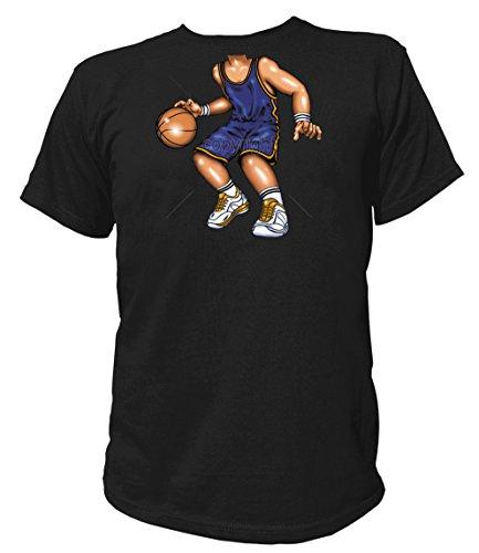Artdiktat Herren T-Shirt - BASKETBALL PLAYER Größe L, (Basketball Maske Kostüm)