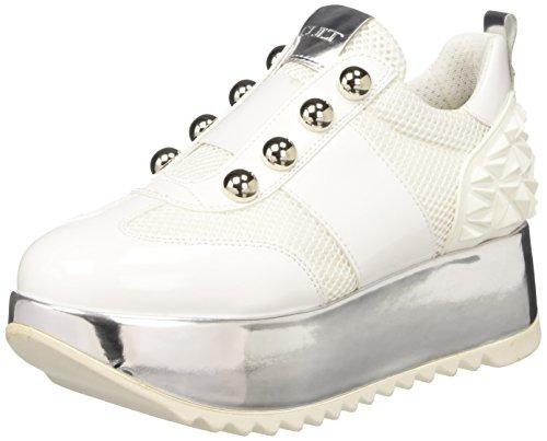 Cult Damen Oasis Low 1481 Niedrige Sneaker Multicolore (White/Silver)