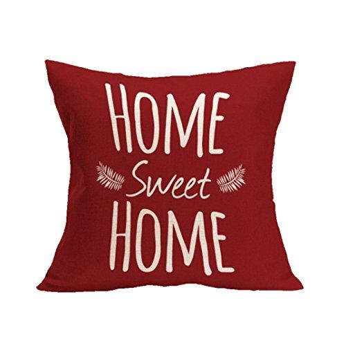 Subfamily federa cuscino,HOME SWEET HOME Federa di lino federa per cuscino da divano a vita casa arredamento 43_x_43_cm