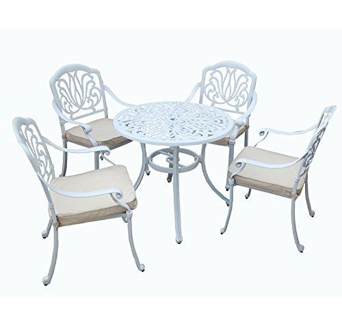 Bentley Garden - Sitzgruppe für 4 Personen - Aluminiumguss & Ornamente - Garten & Terrasse - Weiß