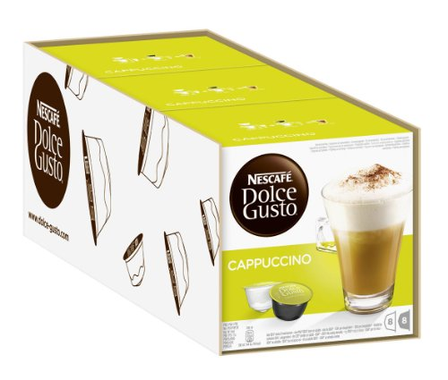 nescaf dolce gusto kaffeekapseln cappuccino 3er pack 48 kapseln 600g radio. Black Bedroom Furniture Sets. Home Design Ideas