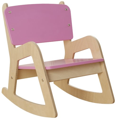 Millhouse Kinder Holz Schaukelstuhl (Pink)
