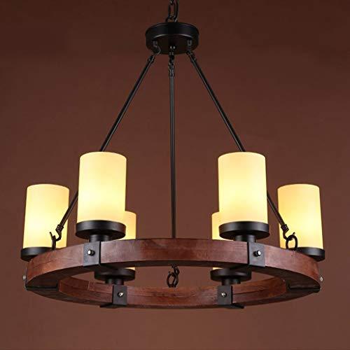 Küche Massivholz Küche Der Insel (JZX Wohnzimmer-Deckenleuchte, industrielle Lampe der Edison-Retro- Art-6 Küchen-Insel-Decken-Küchen-Insel-hängende Beleuchtung, Haushalts-Leuchter,69 * 22 cm)